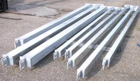 Galvanised steel wind posts windposts
